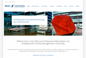 Webseite RESO Partners AG